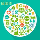 Vector abstract Go Green concept Royalty Free Stock Image