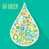 Vector abstract Go Green concept Stock Images