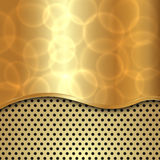 Vector abstract gold background with curve and cells Royalty Free Stock Photography