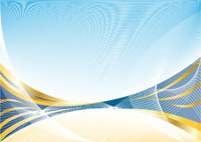 Vector abstract gold blue background Stock Images