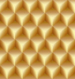 Vector abstract gold seamless pattern made from stacked cubes Royalty Free Stock Images