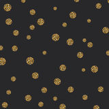 Vector abstract gold spot glitter textured circles background Royalty Free Stock Photography