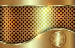Vector abstract golden background  with curve in Royalty Free Stock Photo