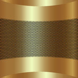 Vector abstract golden background with grille Royalty Free Stock Images