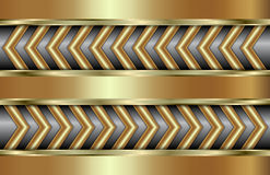 Vector abstract golden background  with zigzag in Royalty Free Stock Photo