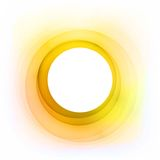 Vector Abstract Golden Circle. Good idea for greeting cards, invitations, banners. Free place for your text. Eps-10 and hi-res jpg Royalty Free Stock Images