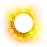Vector abstract golden circle with stars. Invitation or greeting card design. Vector illustration. Eps-10 and hi-res jpg Royalty Free Stock Photography