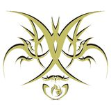 Vector abstract golden floral celtic ornament. Royalty Free Stock Images