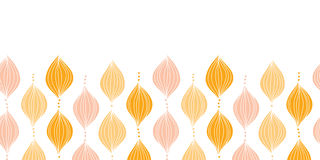 Vector abstract golden ogee horizontal border Stock Photos