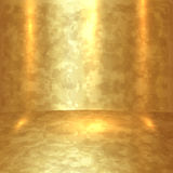 Vector abstract golden room with gold floor and walls Stock Image