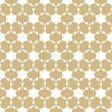 Vector abstract gouden en wit geometrisch naadloos patroon met sterren, netto net, royalty-vrije illustratie