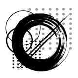 Vector abstract graphic black work stock image