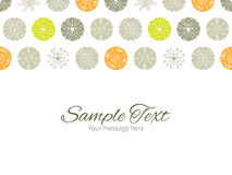 Vector abstract gray and green polka dot backgr Stock Photos
