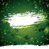 Vector abstract green background. With drops Stock Illustration