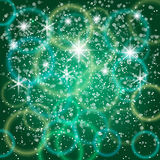 Vector abstract green background with bokeh and Royalty Free Stock Image