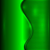 Vector abstract green background with curve and stripes Stock Photo