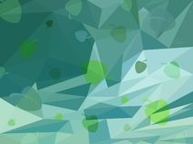 Vector Abstract Green Background of Spring stock illustration