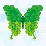 Vector Abstract Green Butterfly Icon Isolated Royalty Free Stock Photo
