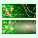Vector abstract green Christmas and New Year Stock Photo