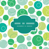 Vector abstract green circles frame seamless Royalty Free Stock Photography