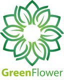 Green Lotus or lily flower Stock Images