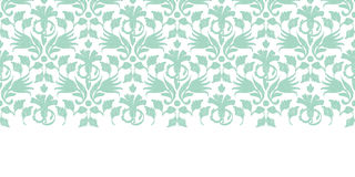 Vector abstract green ikat horizontal border Stock Photo