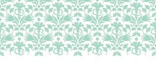 Vector abstract green ikat horizontal border Stock Photo