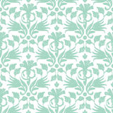 Vector abstract green ikat seamless pattern Stock Photos