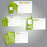 Vector abstract green infographic labels with a icons Royalty Free Stock Photo