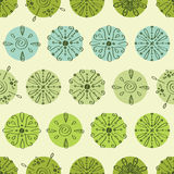 Vector abstract green polka dot stripes seamless Royalty Free Stock Photography