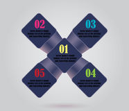 Vector abstract green squares background, business infographic Stock Images