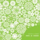 Vector abstract green and white circles frame Stock Photos