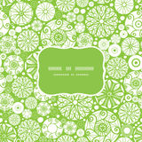 Vector abstract green and white circles frame Royalty Free Stock Image