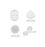 Vector abstract grid, round, flower, drop, circle shapes grid pattern logo icons set for corporate and business identity. Royalty Free Stock Images