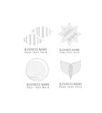 Vector abstract grid, round, flower, petals, circle shapes grid pattern logo icons set for corporate and business identity Stock Photo
