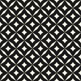 Black and white vector abstract seamless pattern with grid, diamond shapes, stars, rhombuses, lattice, repeat tiles. Vector abstract grid seamless pattern. Black stock illustration