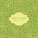 Vector abstract groen natuurlijk textuurkader Stock Afbeeldingen