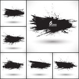 6 vector abstract grunge backgrounds Stock Photography