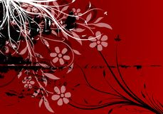 Vector abstract grunge floral background Stock Photos