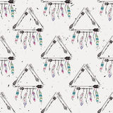 Vector abstract grunge naadloos patroon met stammenkaders Stock Illustratie