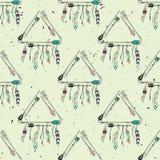 Vector abstract grunge naadloos patroon met stammenkaders vector illustratie