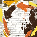The vector abstract grunge wall background. Eps 10 royalty free illustration