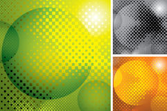 vector abstract halftone backgrounds Royalty Free Stock Photos