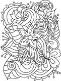 Vector abstract hand-drawn floral texture Royalty Free Stock Photo