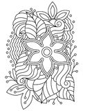 Vector abstract hand-drawn floral texture Royalty Free Stock Photography