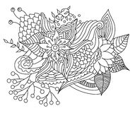Vector abstract hand-drawn floral texture Royalty Free Stock Image
