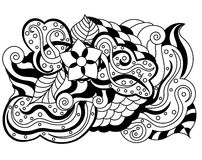 Vector abstract hand-drawn floral texture Royalty Free Stock Photos
