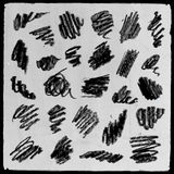 Vector abstract hand drawn pencil grunge set Stock Photo