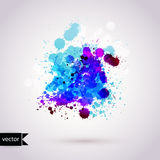 Vector  abstract hand drawn watercolor background, illustr Stock Photos