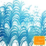 Vector abstract hand drawn watercolor background. Stock Images